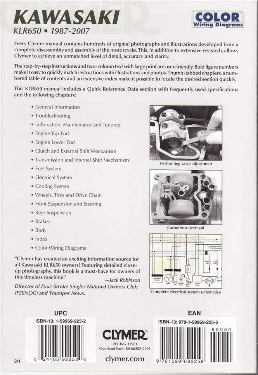klr 650 wiring diagram kawasaki klr650 color kawasaki klr650 1987 2007 workshop manual  kawasaki klr650 1987 2007 workshop manual