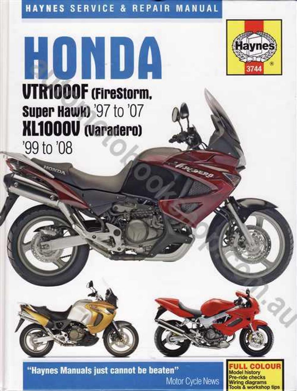 Honda VTR1000F (FireStorm, Super Hawk) XL1000V (Varadero) 1997 - 2008 on