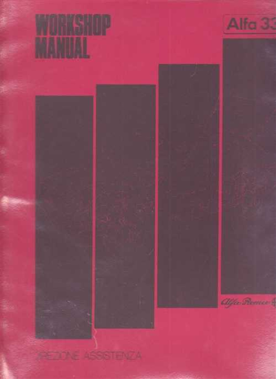 Alfa Romeo 33 1983 - 1985 Workshop Manual on