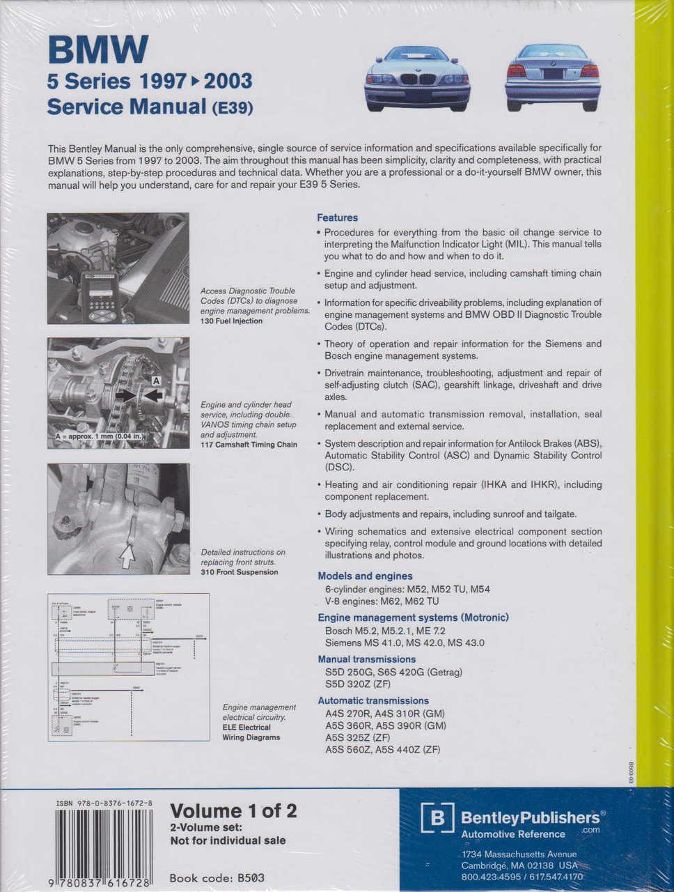 Haynes Workshop Manual BMW 5 Series E39 Petrol 1996-2003 Service ...