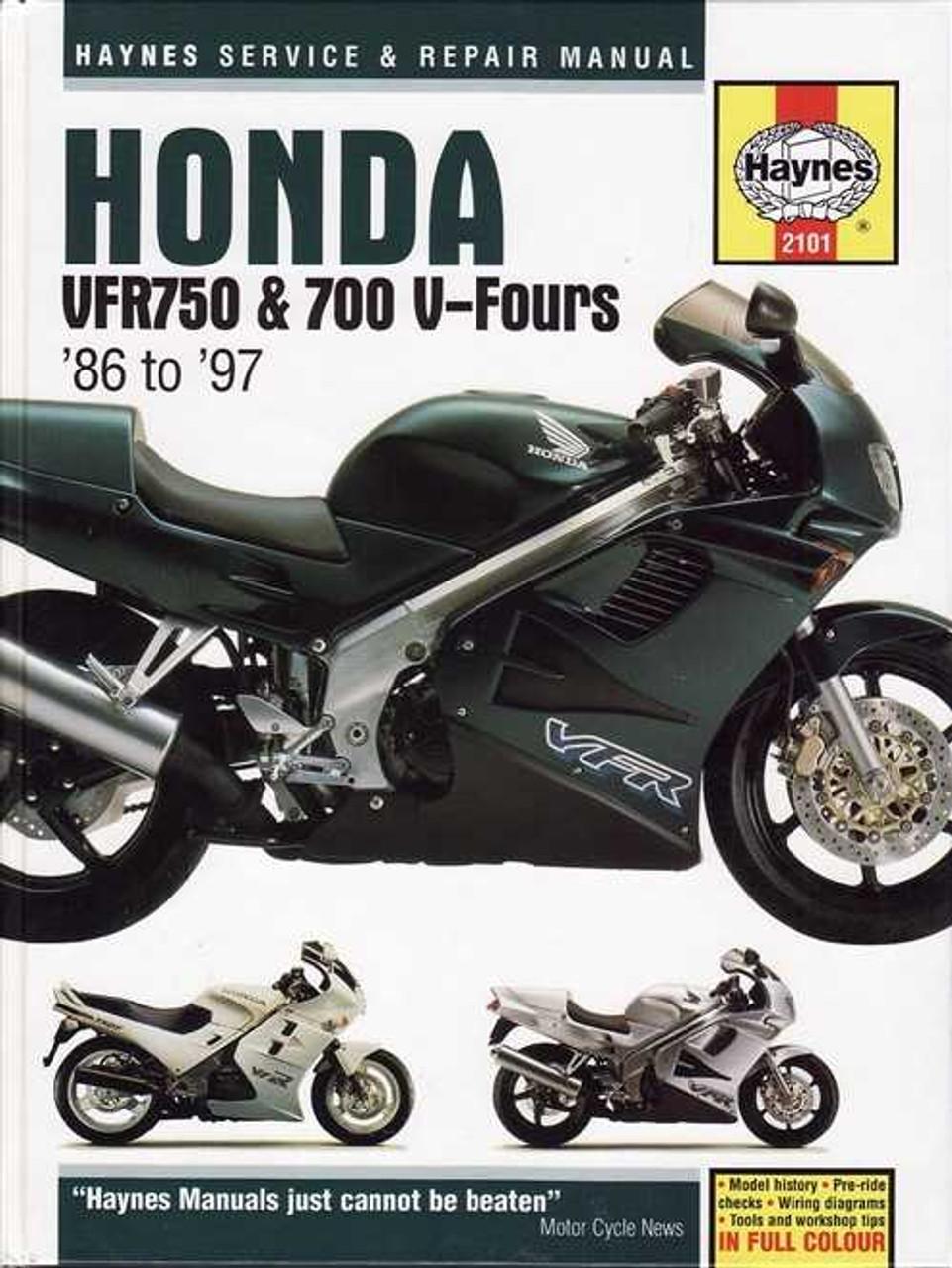 Honda VFR750F, VFR700F V-Fours 1986 - 1997 Workshop Manual on