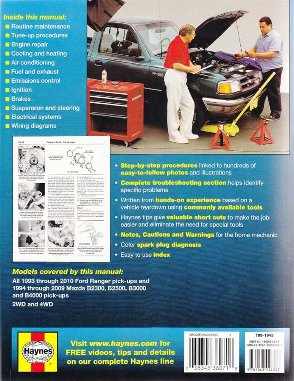 Ford Ranger, Mazda B2300, B2500, B3000, B4000 1993 - 2011 Workshop Manual
