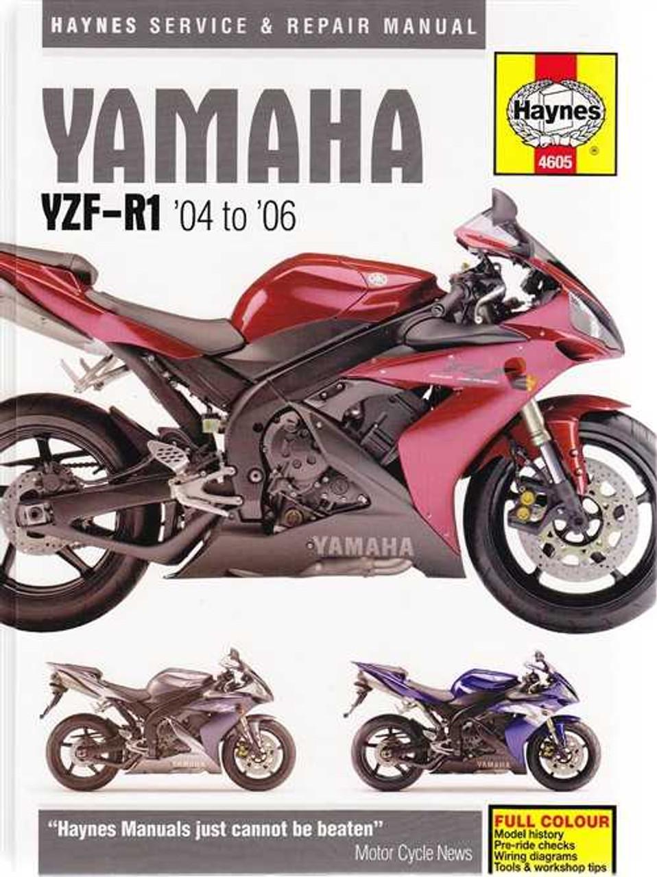 yamaha yzf r1 2004 2006 workshop manual2006 Yamaha Yzf R1 Wiring Diagram #17