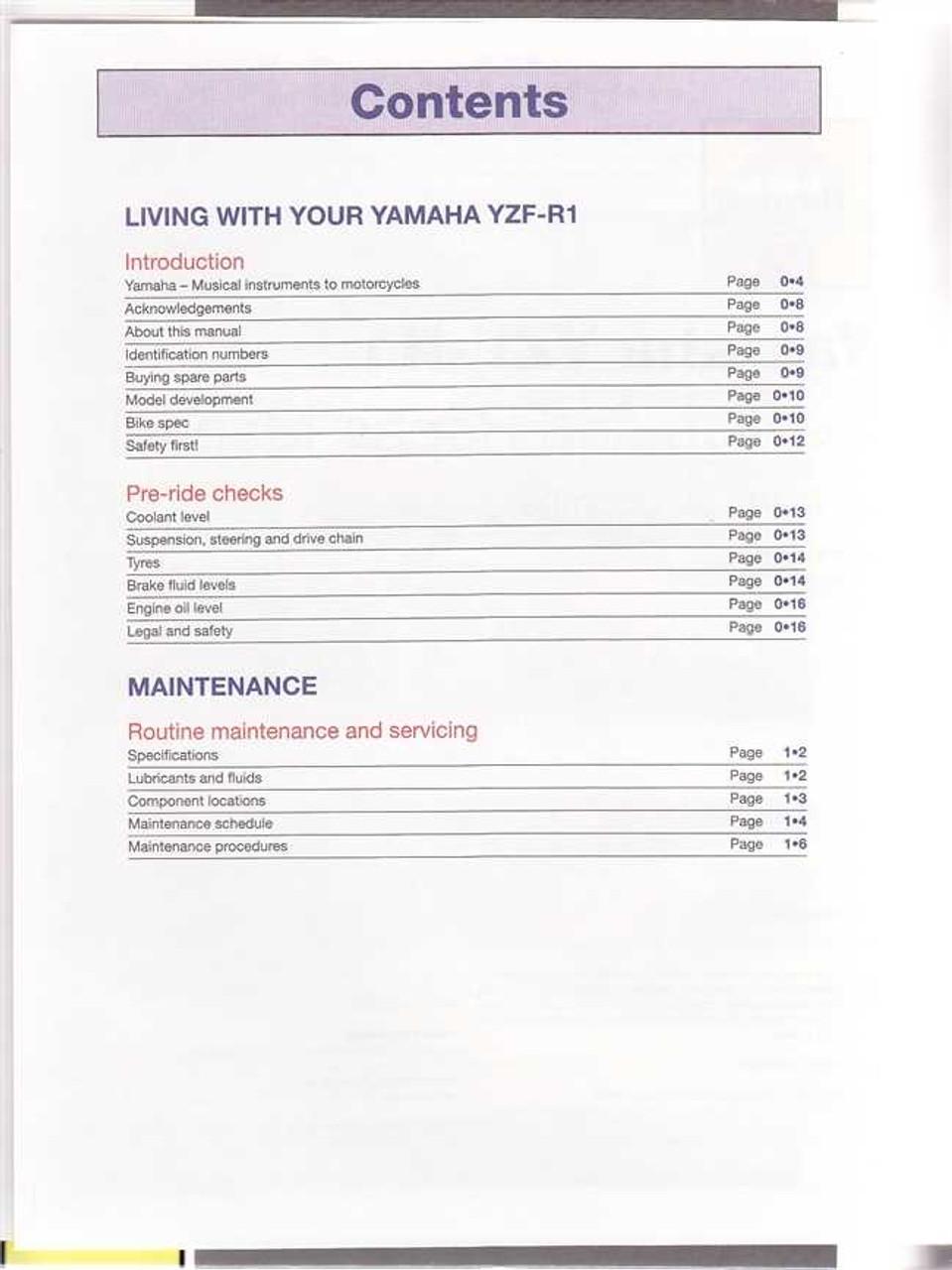 yamaha r1 yzf r1 complete workshop repair manual 2004 2006