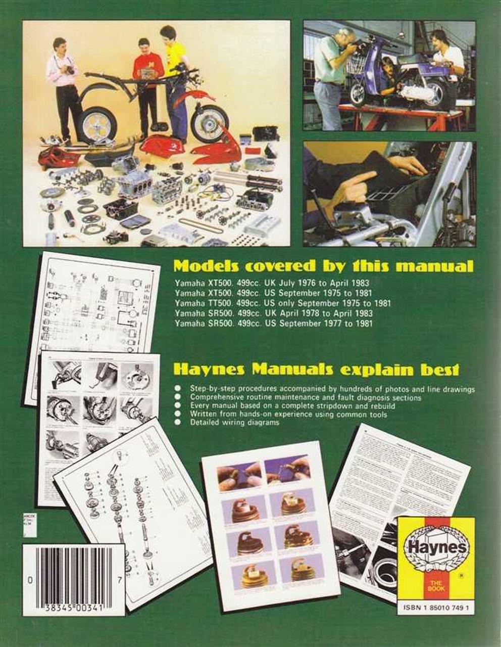 1976 Yamaha 500 Xt Wiring Diagram - Schematics Online on