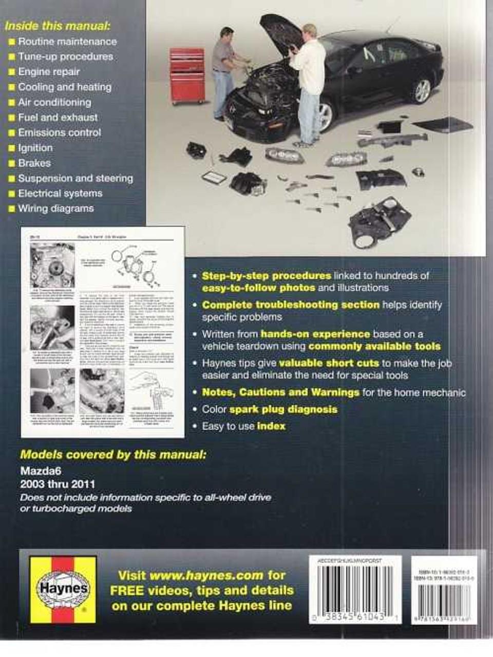 Mazda6 2003 - 2011 Workshop Manual