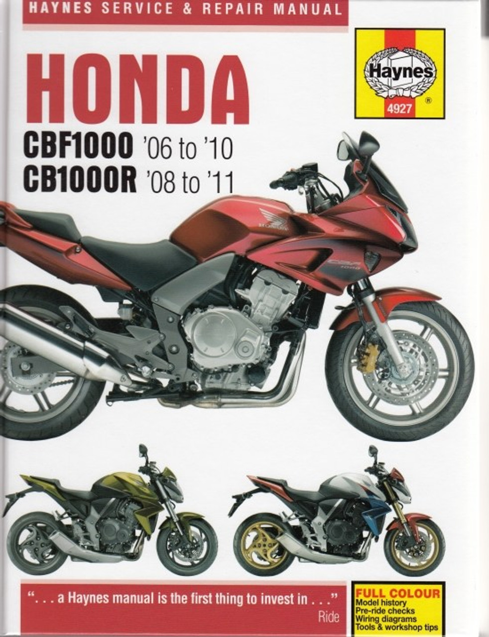 Honda Cbf1000 Cbf1000a Cb1000r Cb1000ra 2006 2011 Workshop Manual