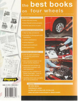 Mazda3 BK & BL Series 2.0, 2.3, 2.5 Litre 2004 - 2011 Workshop Manual back cover