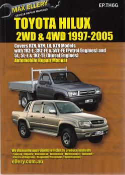 Toyota Hilux 2WD & 4WD RZN, VZN, LN, KZN 1997 - 2005 Repair Service Manual