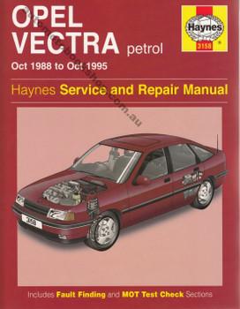 Holden Vectra (Opel) Petrol 1988 - 1995 Haynes Repair Service Manual