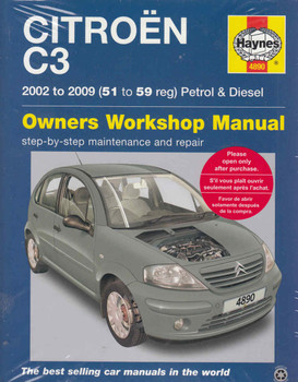 Citroen C3 Petrol & Diesel 2002 - 2009 Repair Service Manual
