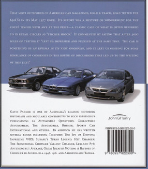 BMW Coupes: Legendary Performance Style Leaders back cover