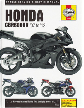 Honda CBR600RR 2007 - 2012 Repair Manual