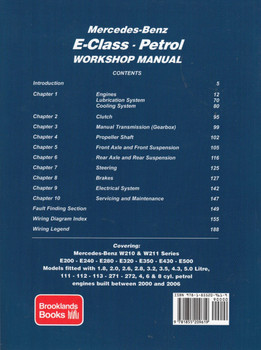 Mercedes-Benz  E-Class W210 & W211 Series 2000 - 2006 Petrol Workshop Manual