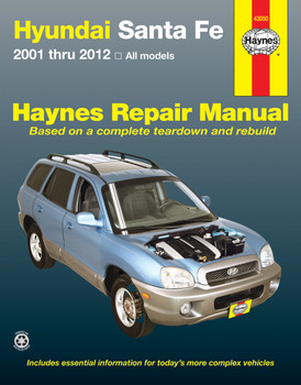 Hyundai Santa Fe All Models 2001 - 2012 Workshop Manual