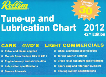 Rellim Tune-up and Lubrication Chart 2012 (42nd Edition)