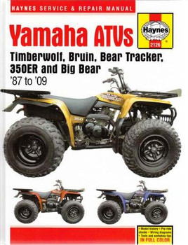 Yamaha ATVs Timberwolf, Bruin, Bear Tracker, 350ER & Big Bear 1987 - 2009 Workshop Manual