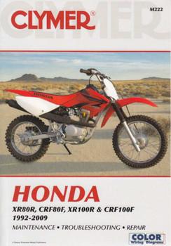 Honda XR80R, CRF80F, XR100R, CRF100F 1992 - 2009 Workshop Manual