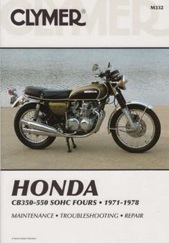 Honda CB350F, CB400F, CB500, CB550, CB550F SOHC Fours 1971 - 1978 Workshop Manual