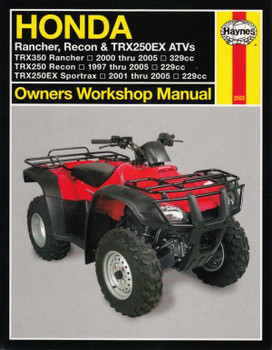 Honda TRX350 Rancher, TRX250 Recon, TRX250EX Sportrax ATVs 1997 - 2005 Workshop Manual