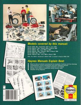 Suzuki GT, ZR & TS50 1979 - 1990 Workshop Manual Back Cover