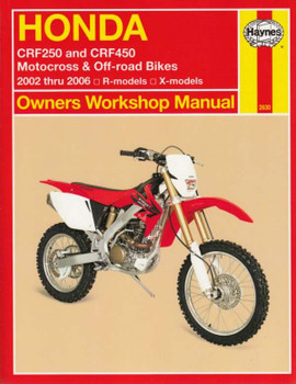 Honda CRF250, CRF450 Motocross & Off-road Bikes 2002 - 2006 Workshop Manual