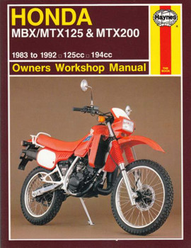 Honda MBX125, MTX125, MTX200 125cc, 194cc 1983 - 1992 Workshop Manual