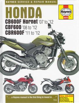 Honda CB600F Hornet, CBF600 & CBR600F 2007 - 2012 Workshop Manual