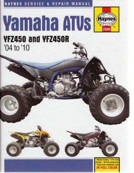 Yamaha ATVs YZF450 and YZF450R 2004 - 2010 Workshop Manual