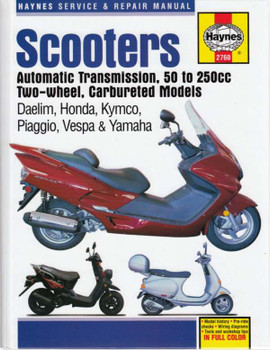 Scooters Automatic Transmission, 50 to 250cc Two-wheel, Carbureted Models Workshop Manual