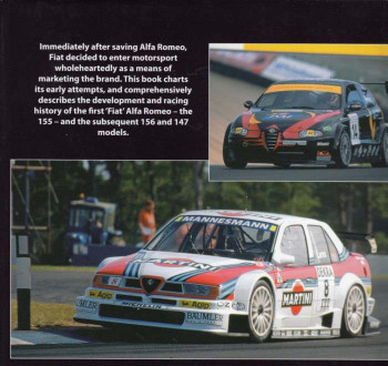 Alfa Romeo Competition Touring Cars 155, 156, 147: The Development and Racing History Back Cover