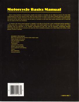 Motorcycle Basics Manual Back Cover
