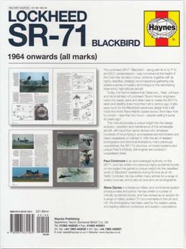 Lockheed SR-71 Blackbird 1964 Onwards Owners' Workshop Manual back