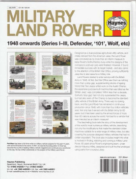 Military Land Rover 1948 onwards back cover
