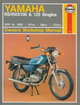Yamaha RS100, RXS100, RS125, RS125 DX Singles 1974 - 1995 Workshop Manual