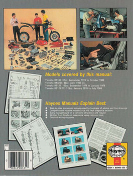 Yamaha RS100, RXS100, RS125, RS125 DX Singles 1974 - 1995 Workshop Manual back cover