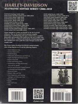 Harley-Davidson FLS, FXS, FXC Softail Series 2006 - 2010 Workshop Manual