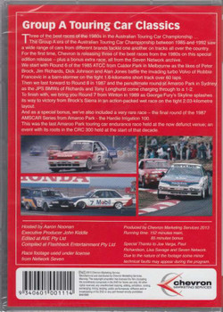 Group A Touring Car Classics DVD Back