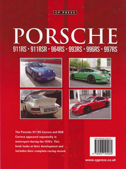 Porsche 911RS, 911RSR, 964RSR, 993RS, 996RS, 997RS back cover