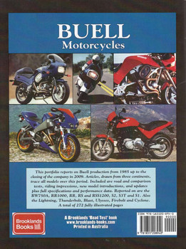 Buell Motorcycles 1985 - 2009 A Brooklands Road Test Portfolio Back Cover