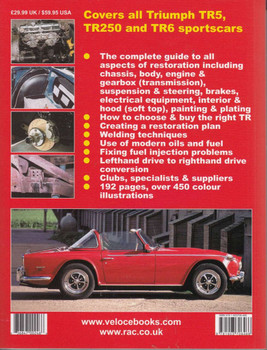 How to Restore Triumph TR5, TR250 and TR6 back cover