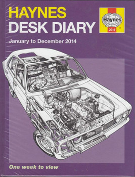 Haynes Automotive Desk Diary January to December 2014