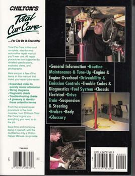 Chevrolet S-Series Pick-Ups & SUVs 1994 - 2004 Manual Back Cover
