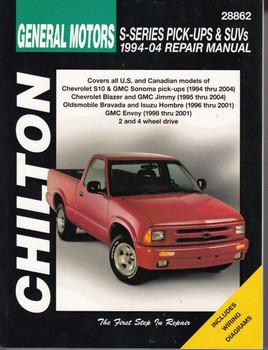 Chevrolet S-Series Pick-Ups & SUVs 1994 - 2004 Workshop Manual
