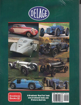 Delage A Brooklands Portfolio Back Cover
