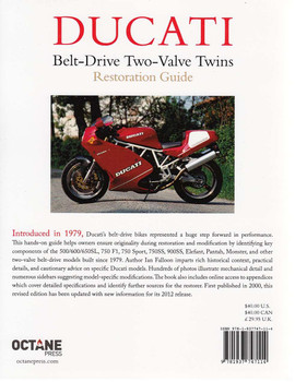Ducati Belt-Drive Two-Valve Twins Restoration Guide Back Cover