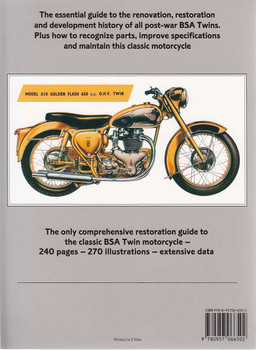 BSA Twin Restoration Back Cover