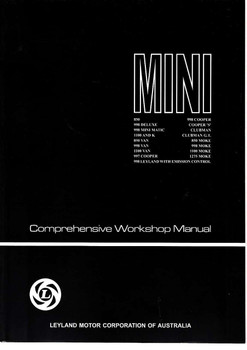Mini All Models Comprehensive Workshop Manual