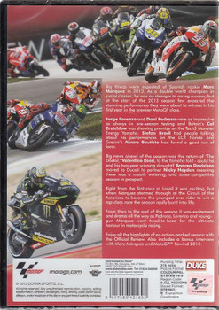 MotoGP 2013: Official Review DVD Back Cover