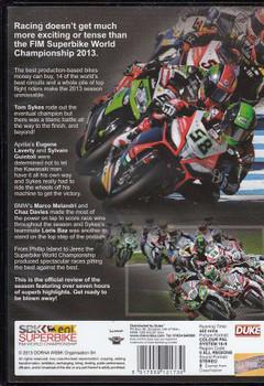 Superbike World Championship 2013 DVD Back Cover